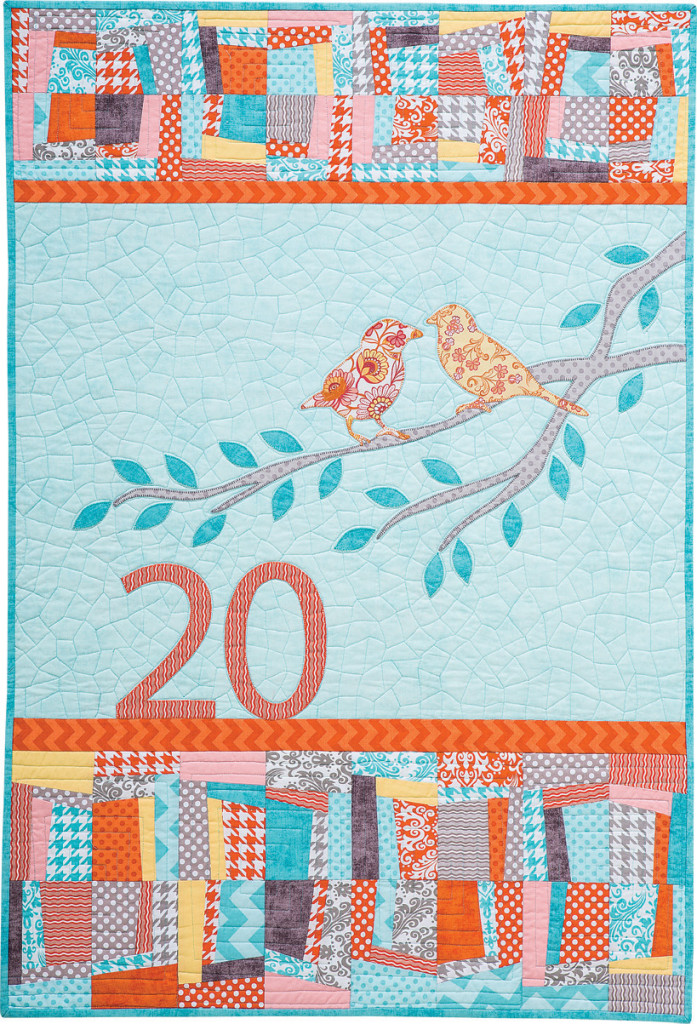 """A Life Together"" anniversary quilt"