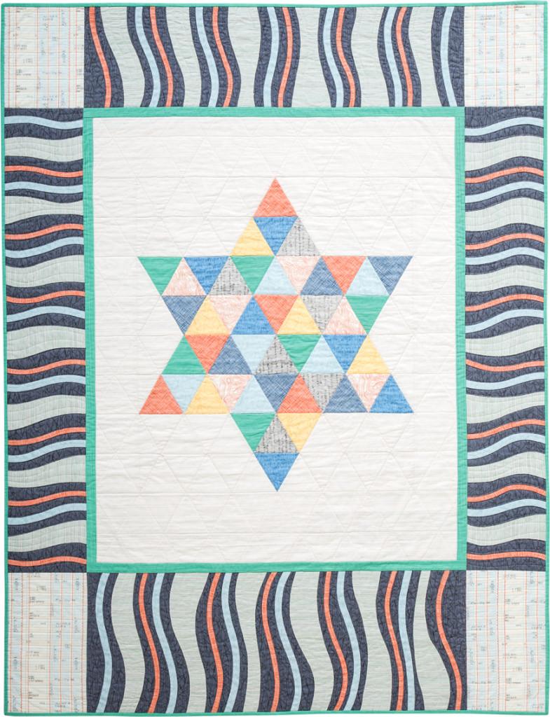 """Mazel Tov"" Barmitzvah quilt"