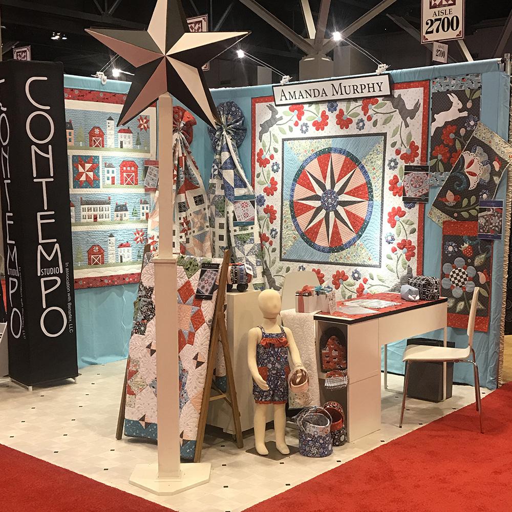 Folk Art Fantasy Booth - Spring Quilt Market 2017