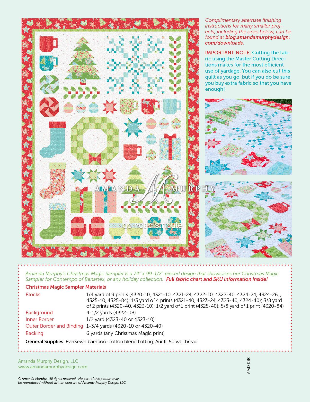 Christmas Magic Sampler Printed Amanda S Blog